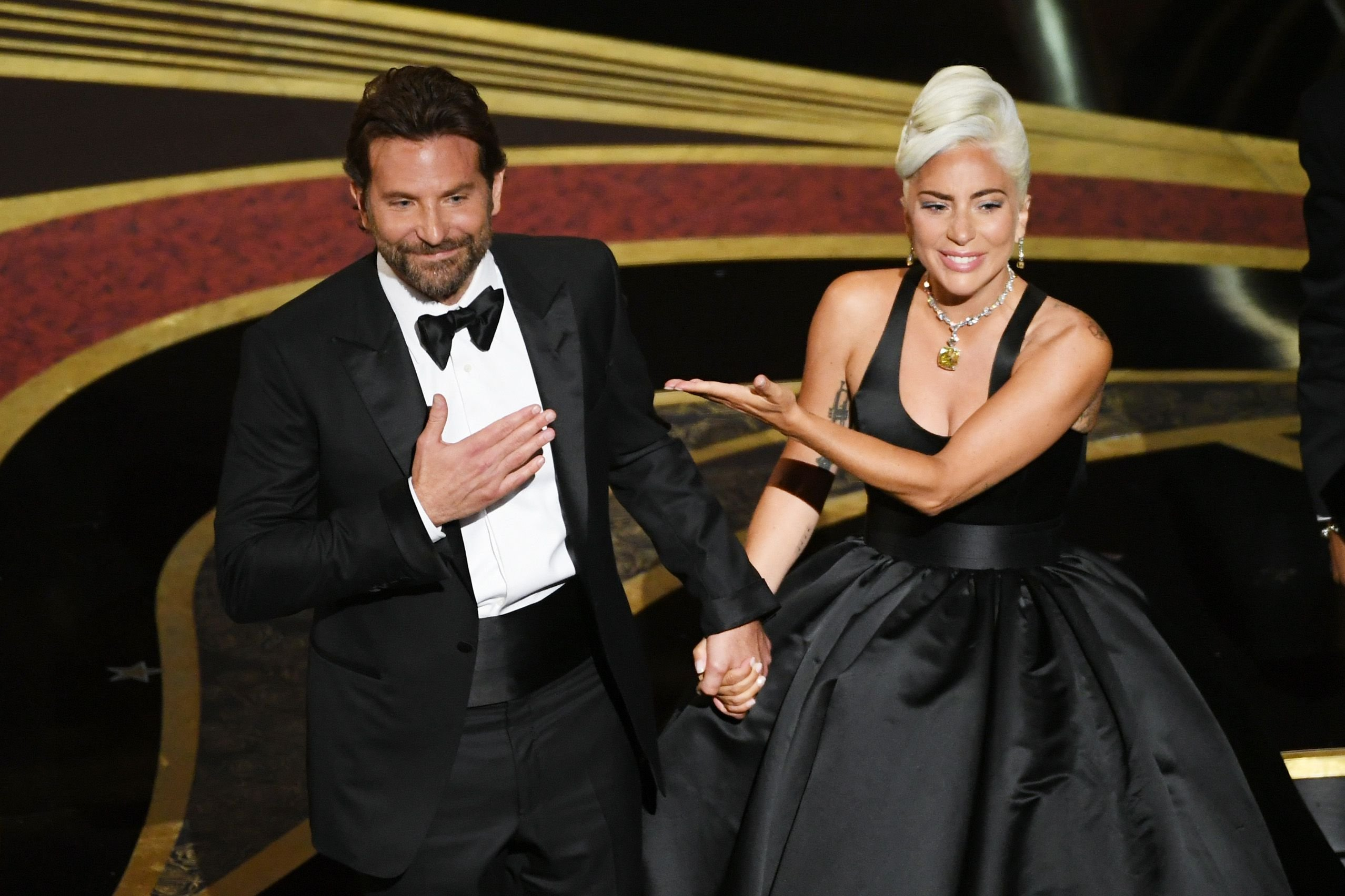 Bradley Cooper e Lady Gaga agli Oscar